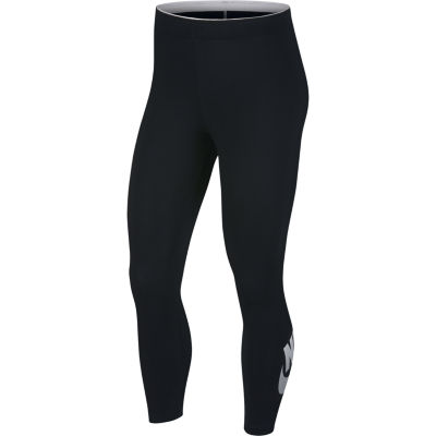 Nike Skinny Graphic Logo Cotton Capris
