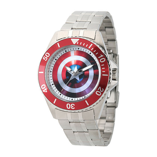 Marvel Avengers Mens Silver Tone Stainless Steel Bracelet Watch - Wma000008