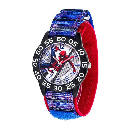 Marvel Spiderman Boys Blue Strap Watch-Wma000411