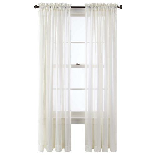 Queen Street® Farmington Rod-Pocket Sheer Panel
