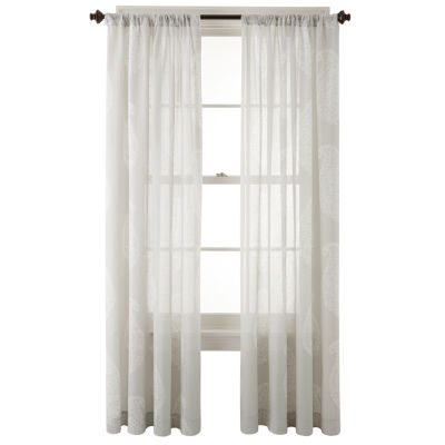 JCPenney Home™ Maura Rod-Pocket Cotton Sheer Panel