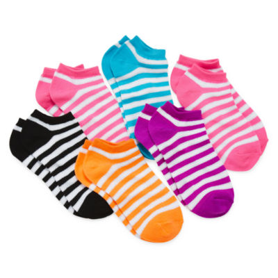 Total Girl® 6-pk. Chevron No-Show Socks - Girls