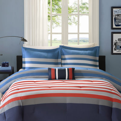 Mi Zone Noah Striped Comforter Set