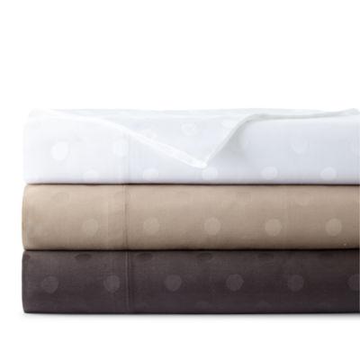 Westport Home 300tc Cotton Jacquard Dot Set of 2 Pillowcases