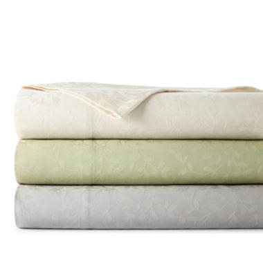 jcpenney.com | Westport Home 300tc Cotton Jacquard Leaf Sheet Set