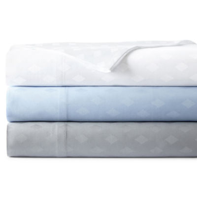 Westport Home 300tc Cotton Jacquard Diamond Sheet Set