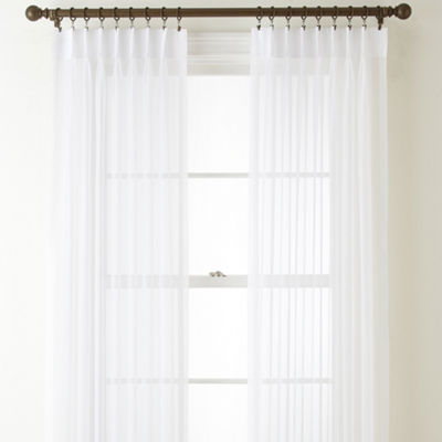 Home Expressions Lisette Pinch-Pleat Sheer 2-Pack Curtain Panels
