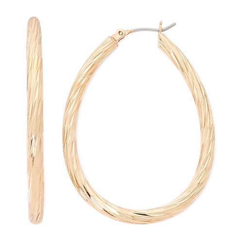 Monet® Gold-Tone Diamond-Cut Hoop Earrings