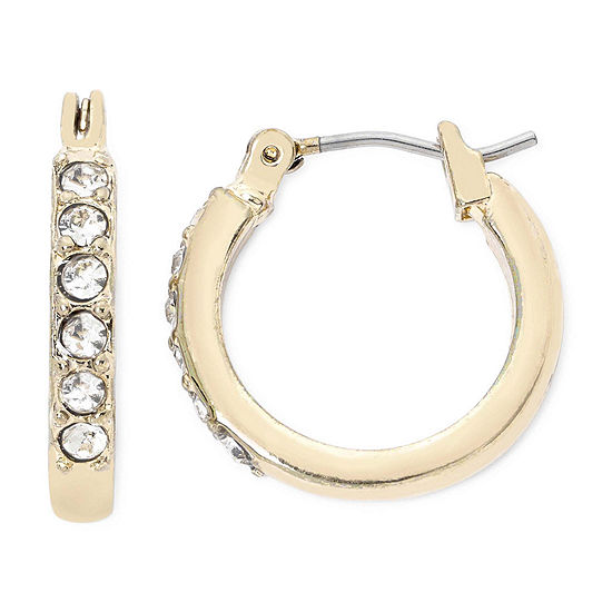 Liz Claiborne® Gold-Tone Crystal Small Hoop Earrings