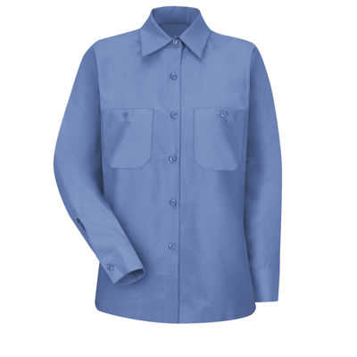 Red Kap® Womens Industrial Long-Sleeve Work Shirt