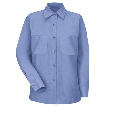 Red Kap® Womens Industrial Long-Sleeve Work Shirt - Plus