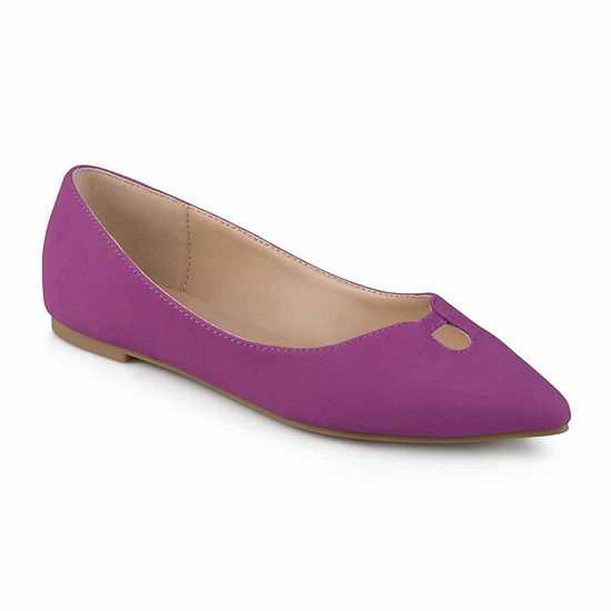Journee Collection Womens Hildy Ballet Flats Pointed Toe