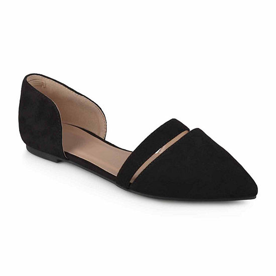Journee Collection Womens Nita Ballet Flats Strap Pointed Toe
