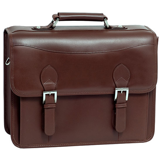 "McKleinUSA Belvedere 15.4"" Leather Double Compartment Laptop Briefcase"