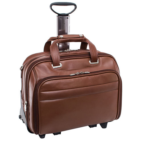 "McKleinUSA Midway 15.6"" Leather Fly-Through™ Checkpoint-Friendly Detachable Wheeled Laptop Briefcase"