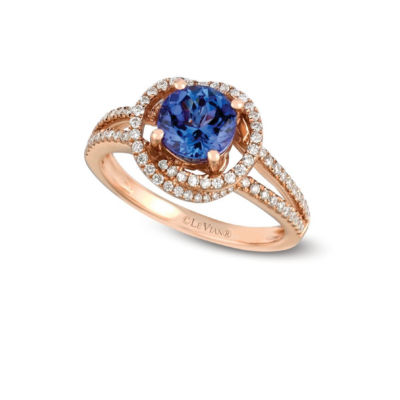 Grand Sample Sale™ by Le Vian® Blueberry Tanzanite® & 1/3 CT. T.W. Vanilla Diamonds® in 14k Strawberry Gold® Ring