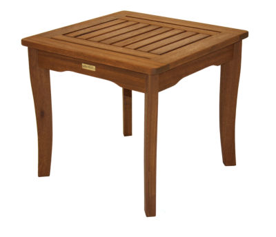 Outdoor Interiors End Table in Brazilian Eucalyptus