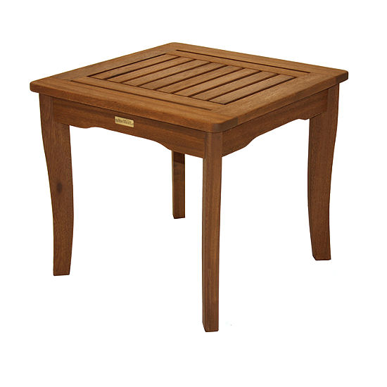 Outdoor Interiors End Table in Brazilian Eucalyptus