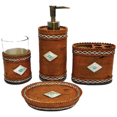 HiEnd Accents Southwest 4-pc. Bath Accessory Set