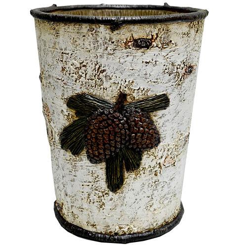 HiEnd Accents Birch Pinecone Waste Basket