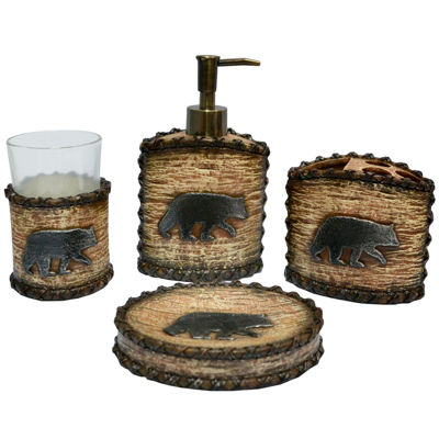 Hiend Accents Rustic Bear 4-pc. Bath Accessory Set