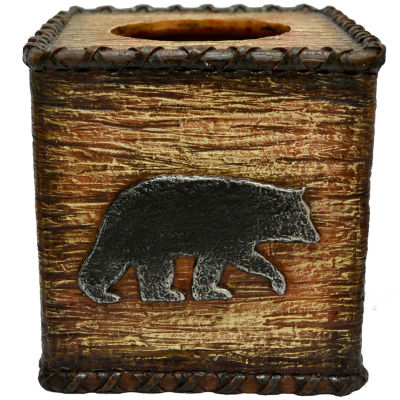 HiEnd Accents Rustic Bear Tissue Box Cover