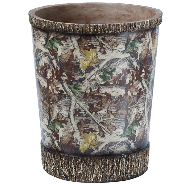 HiEnd Accents Camo Waste Basket