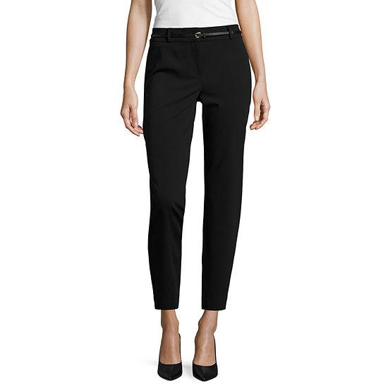 Liz Claiborne® Belted Emma Ankle Classic Fit Slim Leg Pants