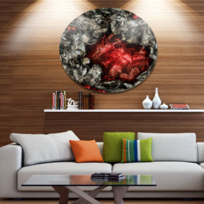 Designart Abstract Floral Texture Background LargeAbstract Metal Artwork