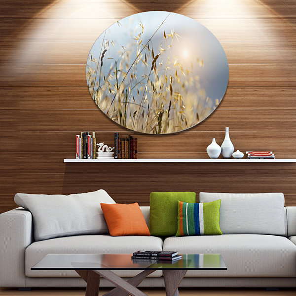Designart Typical Tuscany Sunset Italy Landscape Metal Circle Wall Art