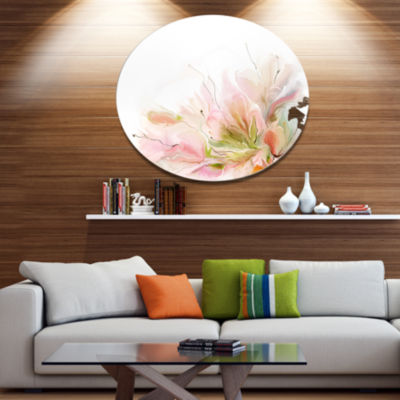 Designart Floral Abstract Design on White Extra Large Floral Wall Art