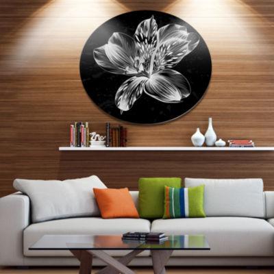 Designart Beautiful Monochrome Alstroemeria FlowerExtra Large Floral Wall Art