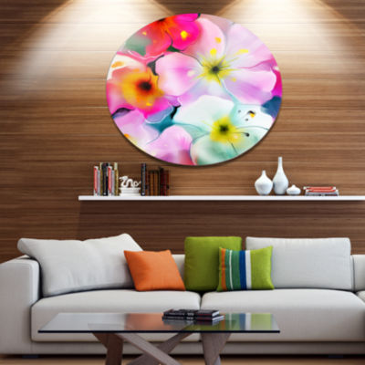 Designart Colorful Watercolor Floral Pattern ExtraLarge Floral Wall Art