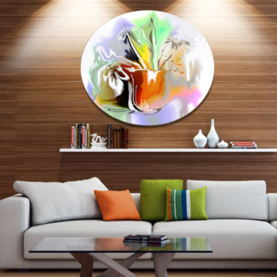 Designart Bouquet of Abstract Flowers Extra LargeFloral Wall Art