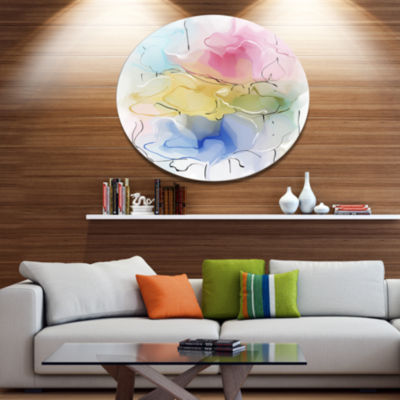 Designart Abstract Floral Illustration Design Extra Large Floral Wall Art