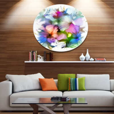 Designart Watercolor Floral Bouquet Extra Large Floral Wall Art