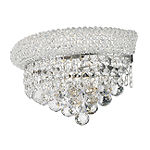 "Empire Collection 2 Light Clear Crystal Wall Sconce Light 12"" W x 6"" H Medium"