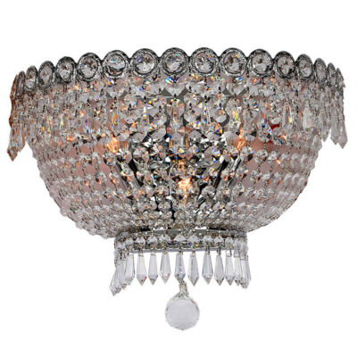 "Empire Collection 3 Light Clear Crystal Wall Sconce 16"" W x 10"" H Large"""