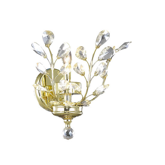 Aspen Collection 1 Clear Crystal Floral Wall Sconce