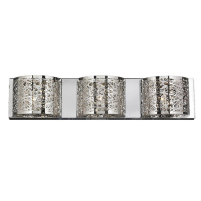 """Aramis Collection 3 Light Chrome Finish and Clear Crystal Wall Sconce 30"""" W x 7"""" H Extra Large"""