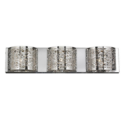 "Aramis Collection 3 Light Chrome Finish and ClearCrystal Wall Sconce 30"" W x 7"" H Extra Large"""