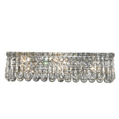 "Cascade Collection 6 Light Chrome Finish Crystal Vanity Light 24"" Wide ADA"""