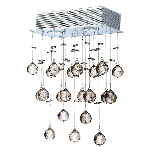 "Icicle Collection 2 Light Chrome Finish and ClearCrystal Wall Sconce 12"" W x 17"" H Medium"""