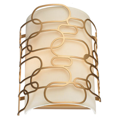 "Montauk Collection 2 Light Matte Finish Wall Sconce W9"" H13"""