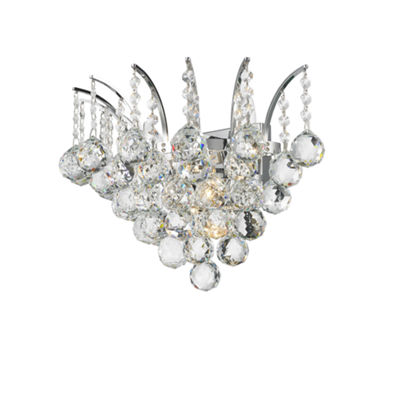 "Empire Collection 3 Light Clear Crystal Wall Sconce 16"" W X 13"" H Large"""