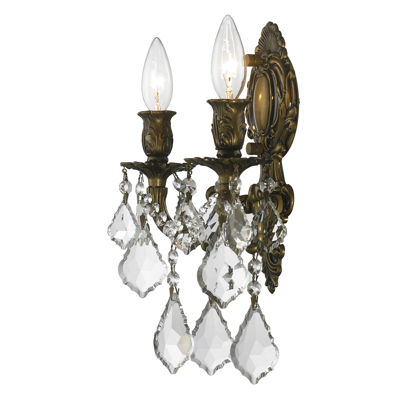 Versailles Collection 2 Light Crystal Candle WallSconce