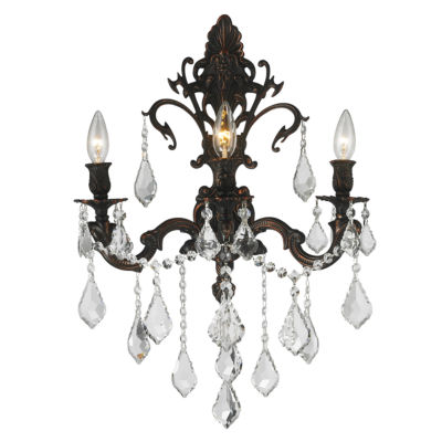 "Versailles Collection 3 Light Crystal Wall Sconce17"" W x 24"" H Large"""