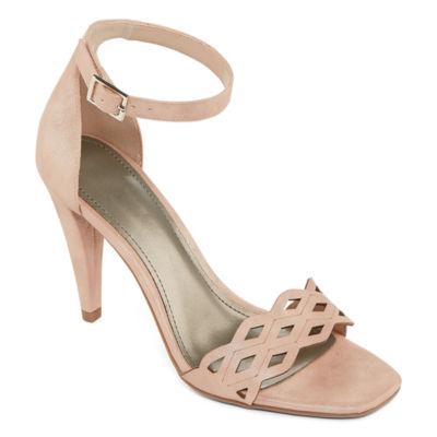 Worthington Womens Mika Pumps Buckle Square Toe Stiletto Heel