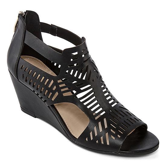 Liz Claiborne Womens Ivalyn Wedge Sandals
