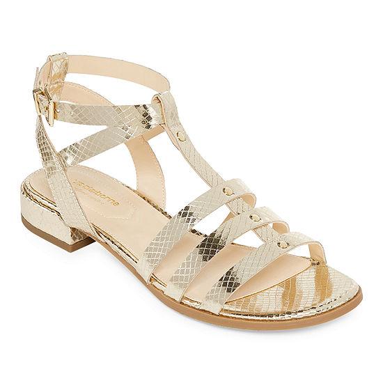 Liz Claiborne Womens Fairfield Adjustable Strap Flat Sandals